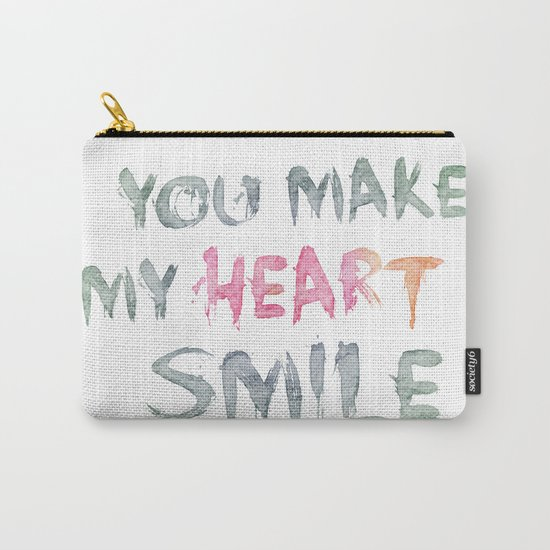 You make my heart smile ink lettering Carry-All Pouch