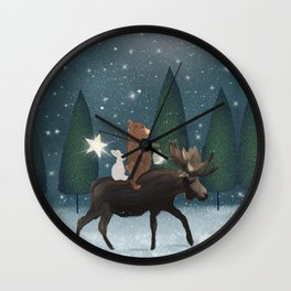 the elder moose Wall Clock