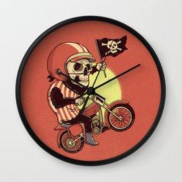 Skull Rider Wall Clock