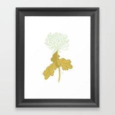 Ghost Flower Framed Art Print