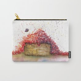 A Basket of Flowers Watercolor Carry-All Pouch