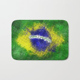 Brazil - Brazilian Flag Bath Mat