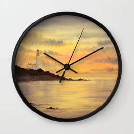 Sunset At Turnberry Scotland Wall Clock
