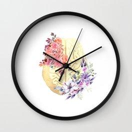 Floral Brain Anatomy  Wall Clock