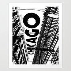 Cities in Black - Chicago Art Print