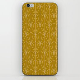 Art Deco Vector in Gold iPhone Skin
