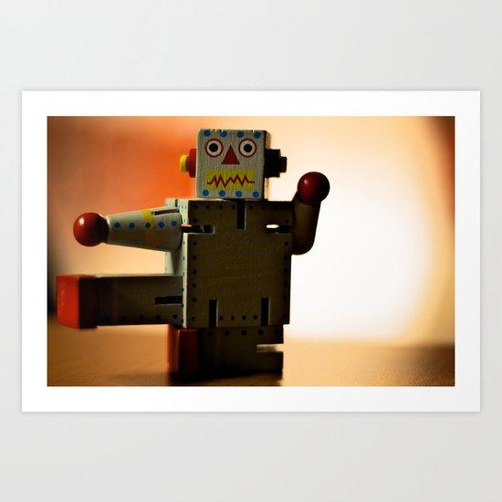 Kung Fu Robot Art Print