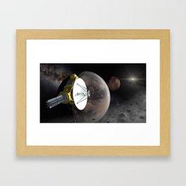 New Horizons flyby Pluto into Kuiper belt Framed Art Print
