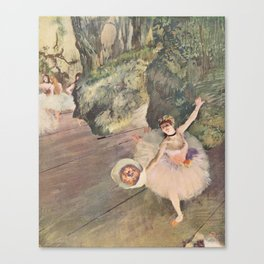 Dancer with a Bouquet of Flowers (Star of the Ballet) Canvas Print