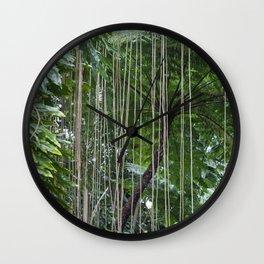 Rainforest umbrella Wall Clock