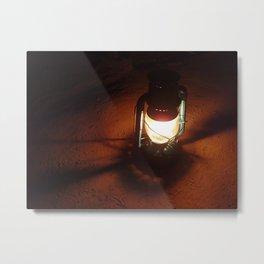 Lantern Light Metal Print