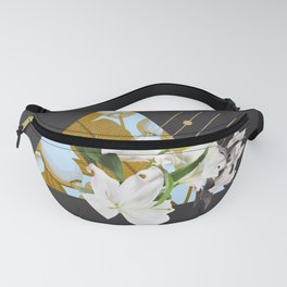 Tropical Flowers & Geometry Fanny Pack