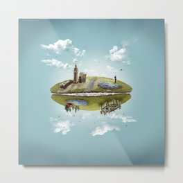 """Merlin- """"Two Sides of the Same Coin"""" Metal Print"""