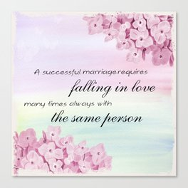 Marriage Quote (Love Quote) Canvas Print
