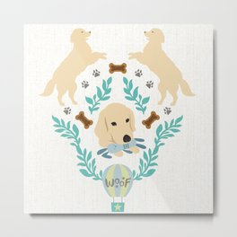 Cute Golden Retriever Metal Print