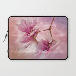 Tranquility - Magnolia Flower (Creative Collection) Laptop Sleeve