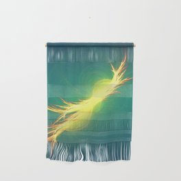 Fractal Phoenix Rising Wall Hanging