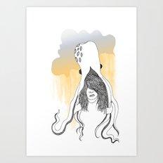 Wear Umbrella Art Print