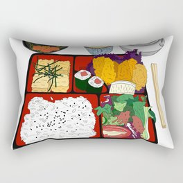 Japanese Bento Box Rectangular Pillow