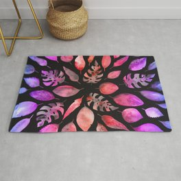 All the Colors of Nature - Gradient on Dark Background Rug