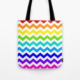 Chevron Rainbow  Tote Bag
