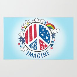 Imagine Love Imagine Peace Rug