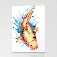 koi Stationery Cards featuring Koi by Sam Nagel