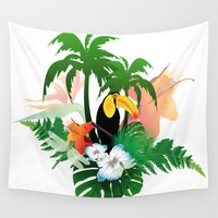 toucan Wall Tapestries featuring Toucan by nicky2342