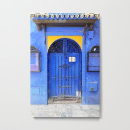 Seville XXIV [ Andalusia, Spain ] Vibrant Blue Moroccan Door⎪Colorful travel photography Poster Metal Print