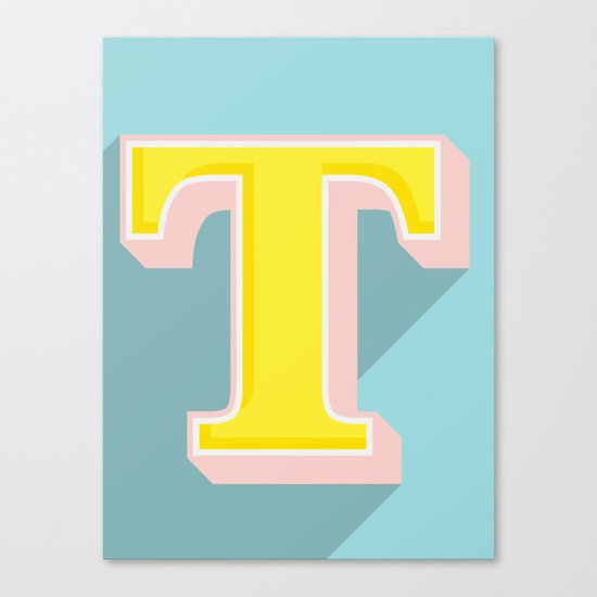 T is for .... Canvas Print