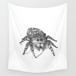 Inktober 2016: Jumping Spider Wall Tapestry