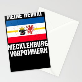 Mecklenburg Vorpommern flag coat of arms flag logo Stationery Cards