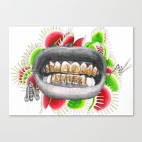 asap rocky Canvas Prints featuring ASAP Rocky Grill by Angie Crabtree