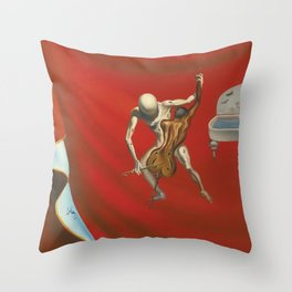 Poster-Salvador Dali-The red orchestra. Throw Pillow