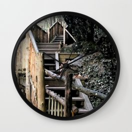 Stairway to the Mountain Wall Clock