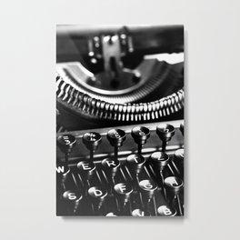 Typewriter No.5 Metal Print