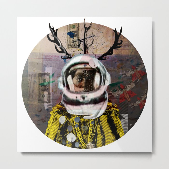 Deadly Kiss · Crop Circle Metal Print
