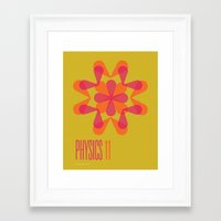 physics Framed Art Prints featuring Physics 11 by lynseycreative