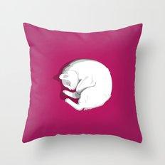 Sleeping cat Throw Pillow