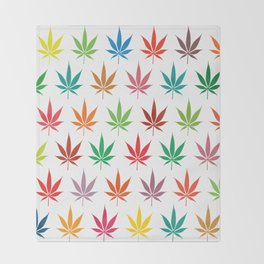 Pot leaves pattern Throw Blanket