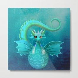 Blue Dragon Metal Print
