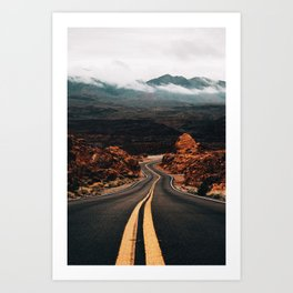 Road to Valley of Fire Art Print