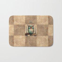Pathchwork Owl Bath Mat