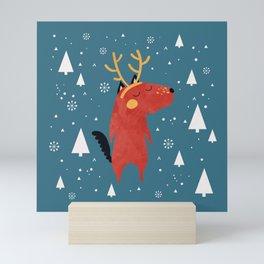 Merry Christmas Dog Card 2 Mini Art Print