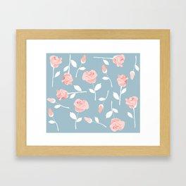 June roses Framed Art Print