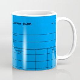 Library Card BSS 28 Blue Coffee Mug