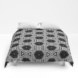 Zebra Stripe Symmetry Comforters