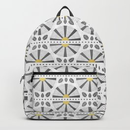 Gold Accent Art Deco Fan Backpack