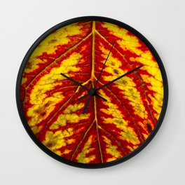 Tiger Leaf Wall Clock