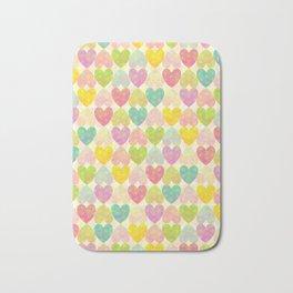 Colorful Sweet Candy Heart Pattern II Bath Mat